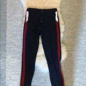Girls leggings with a zipper , worn only once